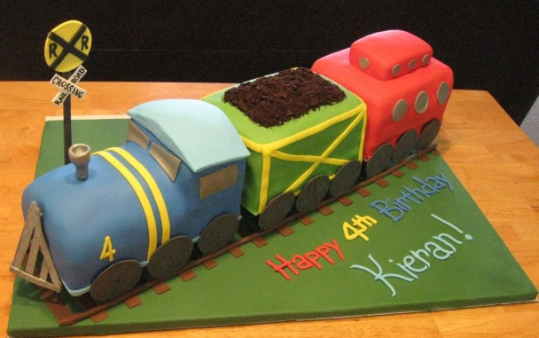 3D Train Cake for a boys birthday