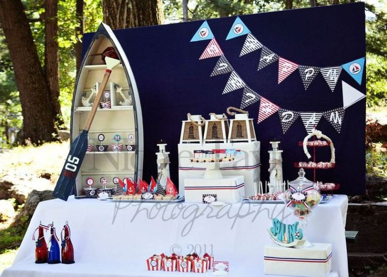 girls nautical birthday party