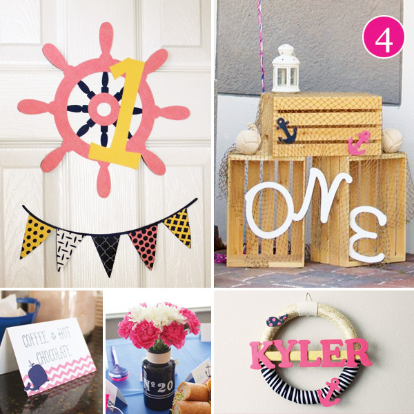 girls nautical birthday party decor