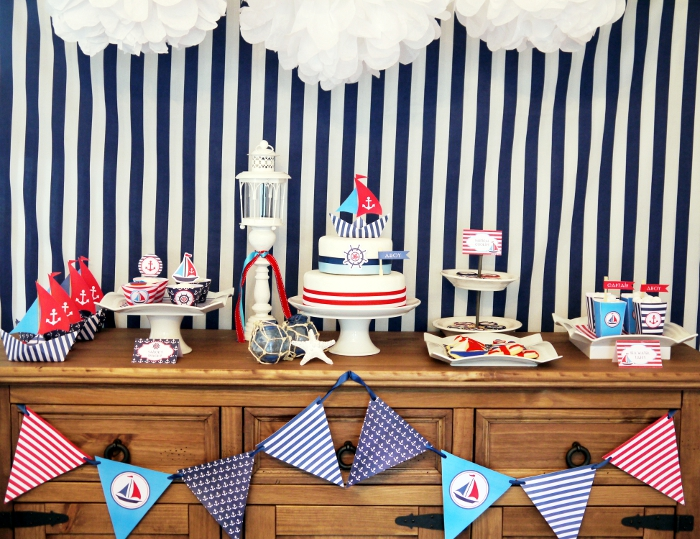 Preppy Nautical Party by Bird's Party