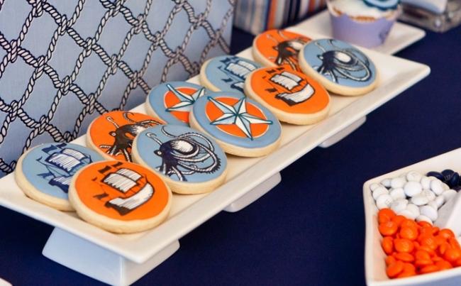 vintage nautical cookies