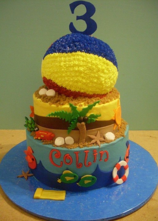 beach ball cake-perfect for a pool party