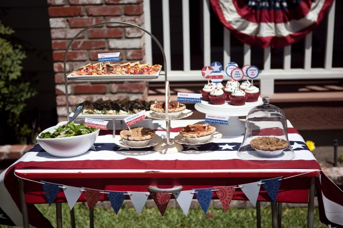 4th of July lovely food table