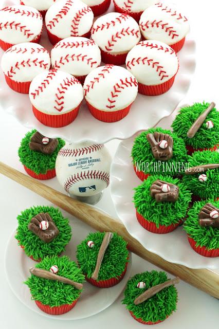 AH-mazing baseball cupcakes!