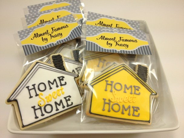 Home sweet home cookies favors for house warming parties