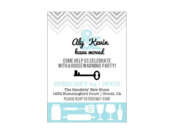 Housewarming printable party invitation