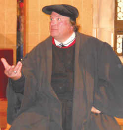Portrayal of Dr  Martin Luther at Immanuel Lutheran Church  copy     Martin Luther  as portrayed by Pastor Don Rothweiler  will visit Immanuel  Lutheran Church  Forest City  as part of the recognition of the 500th  anniversary