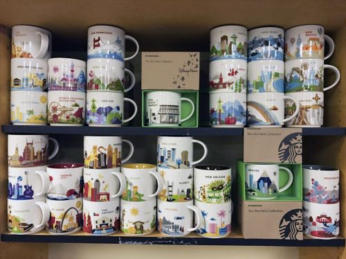 Pretty Mug Collection Collection Grows As Travels Continue Outdoors Coffee Mug Collectors Board Coffee Mug Collection Shelf