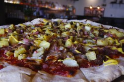 Small Of Pizza On Pineapple