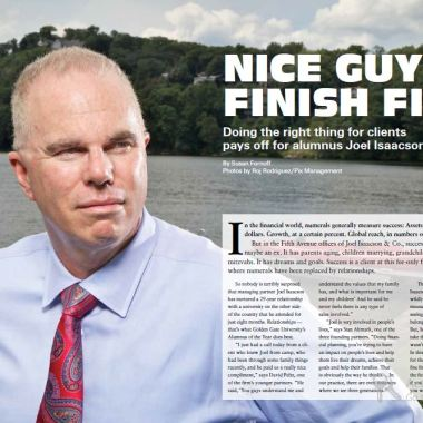 GGU Magazine: Nice guys finish first