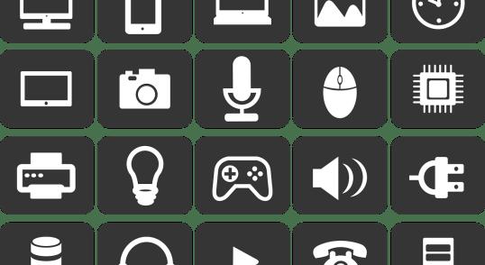 Image of digital disruption icons