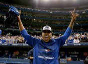 TORONTO, ON - OCTOBER 14:  Marcus Stroman #6 of the Toronto Blue Jays celebrates after the Blue Jays defeat the Texas Rangers 6-3 in game five of the American League Division Series at Rogers Centre on October 14, 2015 in Toronto, Canada.  (Photo by Vaughn Ridley/Getty Images)