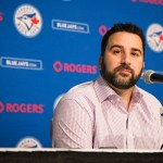 TORONTO, ON - OCTOBER 26: Toronto Blue Jays general manager, Alex Anthopoulos, addresses the media at the Rogers Centre after the Blue Jays lost Game 6 of the American League Championship Series to Kansas City Royals last Friday.        (Melissa Renwick/Toronto Star via Getty Images)