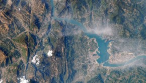 NASA image of Three Gorges Dam reservoir flooding