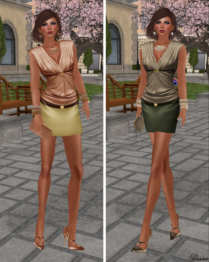 GizzA - Anne Marie Outfit Mango and Beige