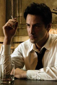 A brooding John Constantine, played by Keanu Reeves.