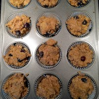 Blueberry Banana Almond Meal Muffins