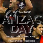 Central Blues ANZAC Day Info/Recruitement Night