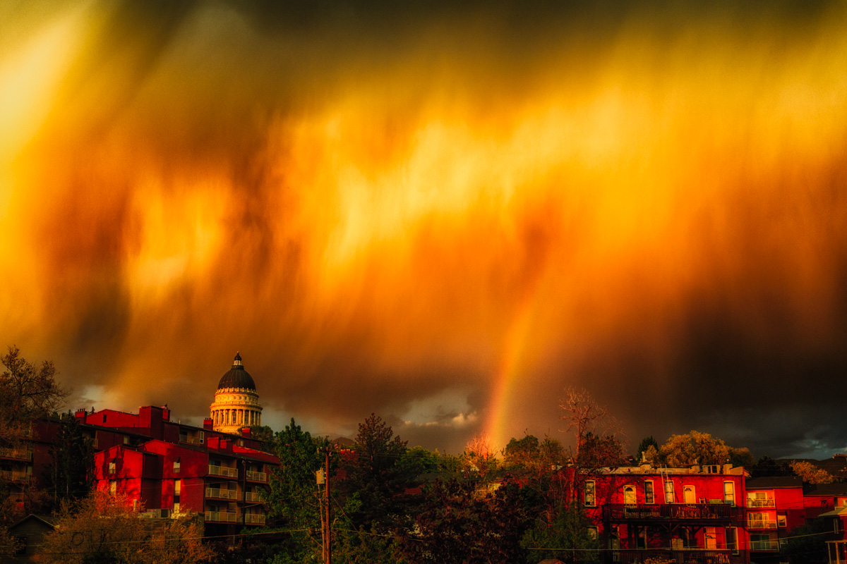 Flaming Sky Rainbow