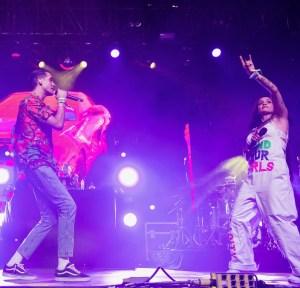G-Eazy w/ Kehlani @ Coachella 4/16/17. Photo by Greg Noire. Courtesy of Coachella. Used with permission.