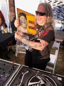 DJ Howie Pyro at the Johnny Ramone Tribute 2017 @ Hollywood Forever Cemetery 7/30/17. Photo by Nikki Kreuzer (@Lunabeat) for www.BlurredCulture.com.