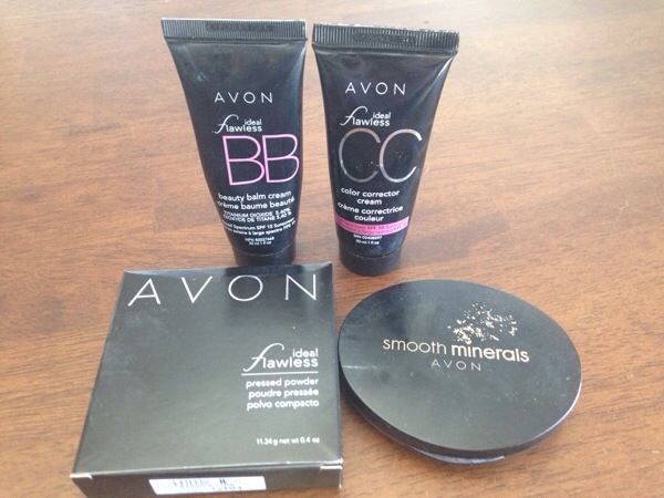 Avon Ideal Flawless BB Cream, Avon Ideal Flawless CC Cream, Avon Ideal Flawless Pressed Powder, Smooth Minerals Pressed Foundation