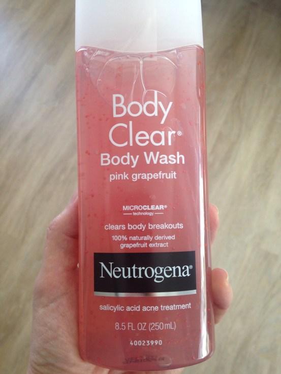 Neutrogena Post-Workout Skin Care Routine, Neutrogena Body Clean Pink Grapefruit Body Wash, bacne, salicylic acid