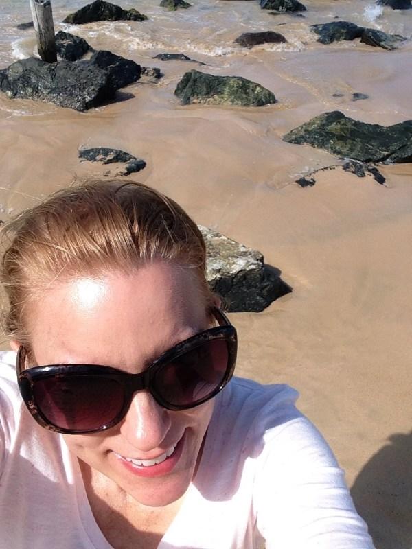 selfie, san juan, puerto rico, beach