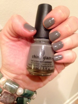 For this week's Manicure Monday, I tried China Glaze Recycle nail polish with Sally Hansen Miracle Gel topcoat