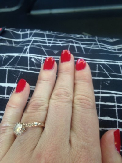 Cover Girl Outlast Stay Brilliant nail polish from the Star Wars collection in Red Revenge