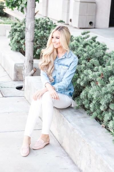 Fashion Basics | Denim Jacket + Pink Mules