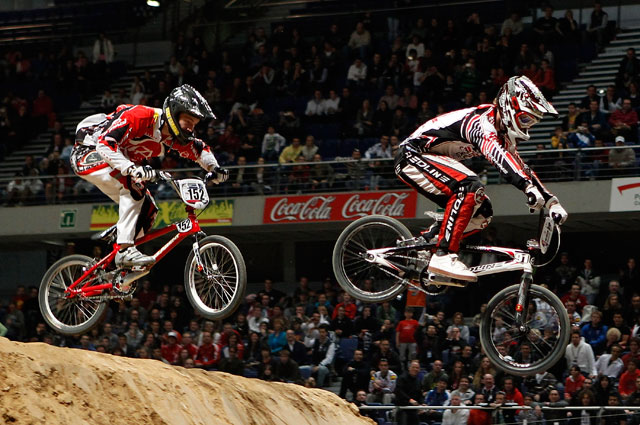 Sam Willoughby on his way to winning the Madrid Supercross