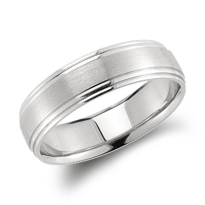 carved wedding ring palladium palladium wedding rings Double Cut Comfort Fit Wedding Ring in Palladium 6mm