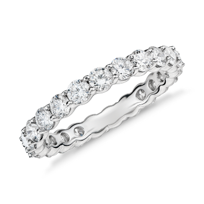 classic diamond eternity eternity wedding bands Classic Diamond Eternity Ring in Platinum 2 ct tw