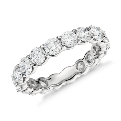 classic diamond eternity ring platinum eternity wedding bands Classic Diamond Eternity Ring in Platinum 3 ct tw