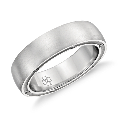 colin cowie mens diamond ring platinum platinum diamond wedding bands Colin Cowie Brushed Diamond Wedding Ring in Platinum 6mm