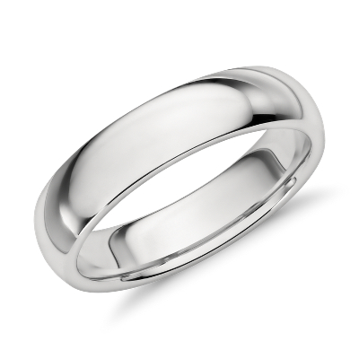 comfort fit platinum wedding ring mens wedding band Comfort Fit Wedding Ring in Platinum 5mm