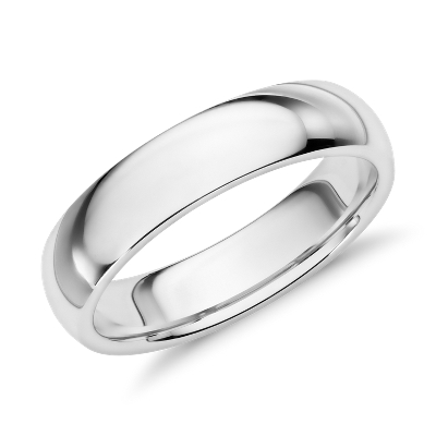 comfort fit wedding ring palladium palladium wedding rings Comfort Fit Wedding Ring in Palladium 5mm