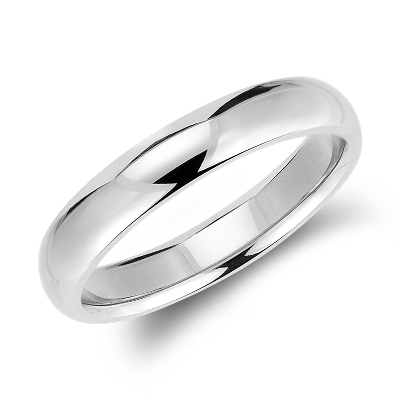comfort fit wedding ring palladium palladium wedding rings Comfort Fit Wedding Ring in Palladium 4mm