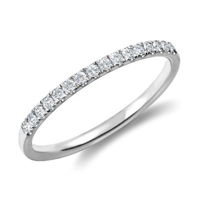 diamond spiderman wedding ring Petite Cathedral Pav Diamond Ring in Platinum 1 6 ct tw