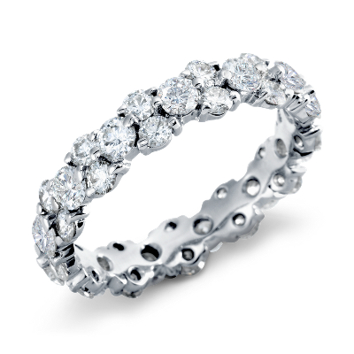 garland diamond eternity ring platinum eternity wedding bands Garland Diamond Eternity Ring in Platinum 2 5 ct tw