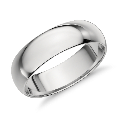 high dome wedding ring 14k white gold wedding bands men Need Help