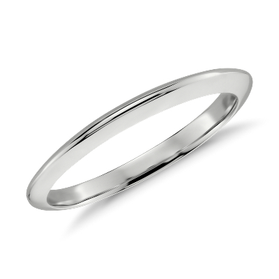 knife edge wedding band 14k white gold white gold wedding band Knife Edge Wedding Band in 14k White Gold