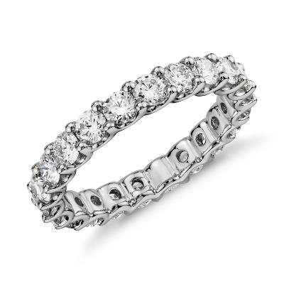 luna diamond eternity ring platinum eternity wedding bands Luna Diamond Eternity Ring in Platinum 2 ct tw