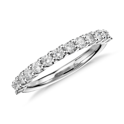 womens wedding rings womens diamond wedding rings Luna Diamond Wedding Ring in Platinum 1 2 ct tw