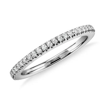 pave wedding band platinum platinum diamond wedding bands Pav Diamond Wedding Ring in Platinum 1 6 ct tw