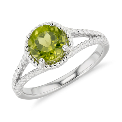 august peridot hinged wedding ring NEW Peridot Rope Ring in Sterling Silver 7mm