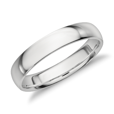 mens wedding rings black mens wedding rings Mid weight Comfort Fit Wedding Band in Platinum 4mm