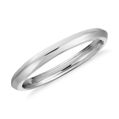 wedding rings country wedding bands Truly Zac Posen Knife Edge Wedding Ring in Platinum