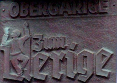 Sign for zum Uerige, Duesseldorf, Germany.